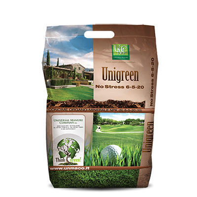 Unigreen 6-5-20 No Stress + 1Fe - Fertilizzante